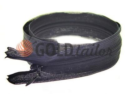 Блискавка потайна спіральна 50 см тип 3, чорний оптом і вроздріб від 1 шт