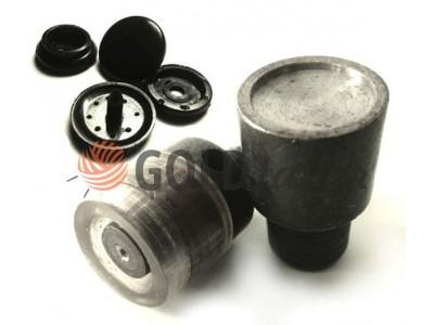 Матрица для установки пластиковой кнопки №61 9,5мм, 12,5 мм, 15 мм, 17 мм под турецкий пресс