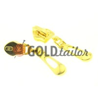Бігунок Крапля для спіральної блискавки тип 7 золото