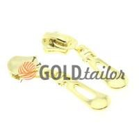 Бігунок Крапля для металевої блискавки тип 5 золото