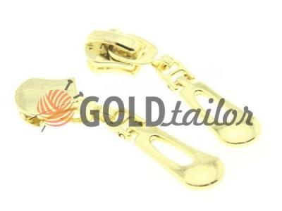 Бігунок слайдер Крапля для металевої блискавки тип 5 колір золото