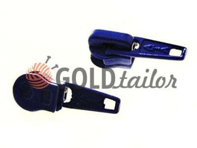 Бігунок стандартний для спіральної блискавки тип 5 синій купить оптом