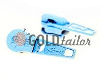 Бігунок стандартний для спіральної блискавки тип 5 блакитний