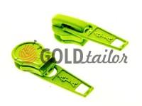 Бігунок стандартний для спіральної блискавки тип 5 зелений