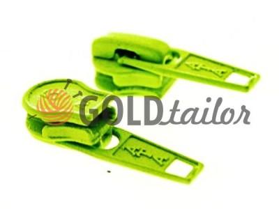Бігунок стандартний для спіральної блискавки тип 5 зелений купить оптом