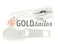 Slider standard for spiral zipper type 5 white