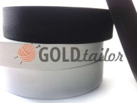 Elastic band textile white 20 mm - 50 mm standard