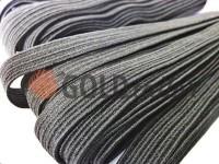 Elastic band textile black 10 mm standard, 10 m