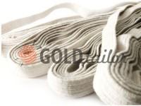 Резинка текстильна біла 10 мм х/б, 10 м