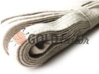 Elastic band textile white 10 mm cottons, 10 m