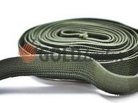 Резинка текстильна оливкова 10 мм плотна, 25 м