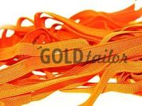 Elastic band textile orange 10 mm thick, 25 m