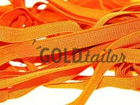 Резинка текстильна помаранчева 10 мм плотна, 25 м