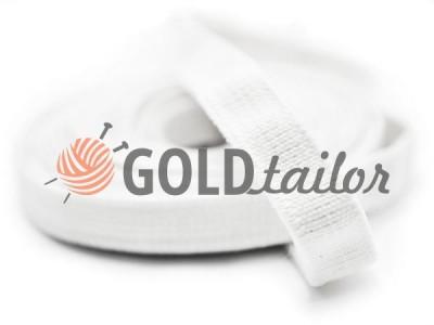 Резинка текстильна біла 10 мм плотна від 1 рулону оптом і вроздріб