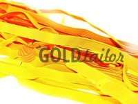 Резинка текстильна жовта 10 мм плотна, 25 м