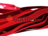 Резинка текстильна червона 10 мм плотна, 25 м