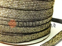 Elastic band textile lurex gold 10 mm thick