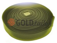 Elastic band textile olive 20 mm - 40 mm thick