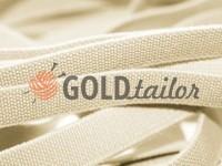 Elastic band textile light beige 10 mm thick, 25 m