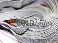 Elastic band textile light gray 10 mm thick, 25 m