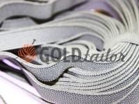 Резинка текстильна світло-сіра 10 мм плотна, 25 м