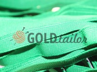 Elastic band textile green 10 mm thick, 25 m