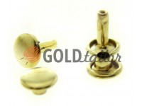 Holniten double 5 mm - 12 mm gold, 100 pcs