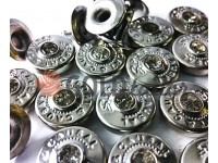 """Holniten with stone """"SportCasual"""" unilateral 9,5 mm nickel, 100 pcs"""