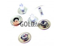"""Holniten with stone """"Relief"""" unilateral 9,5 mm nickel, 100 pcs"""