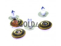 """Holniten with stone """"Relief"""" unilateral 9,5 mm antique, 100 pcs"""