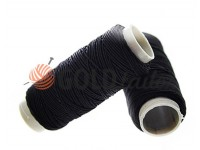 Thread elastic black 50 m