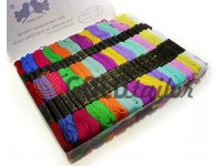 """Set of multicolored thread floss """"Two Birds"""" 100 pcs"""
