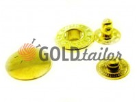 Button Alfa smooth 15 mm, 17 mm, 20 mm gold, 50 pcs