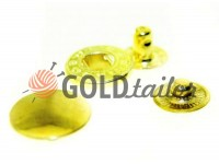 Кнопка Alfa гладка 15 мм, 17 мм, 20 мм золото, 50 шт
