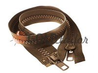 Zipper tractor type 10 two runner 60 - 100 cm, brown 046