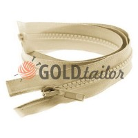 Zipper tractor type 5 one slider 40 cm - 100 cm, color beige 126