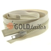 Zipper tractor type 5 one slider 40 cm - 100 cm, color beige 098