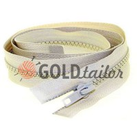 Zipper tractor type 5 one slider 40 cm - 100 cm, color beige 167