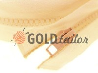 Zipper tractor type 5 one slider 40 cm - 100 cm, color beige 038